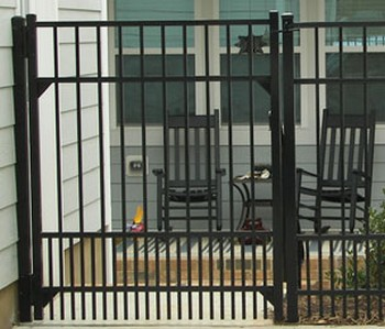 aluminum fence with pet panel