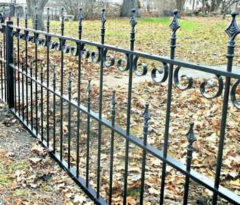 wrought iron rod iron fence