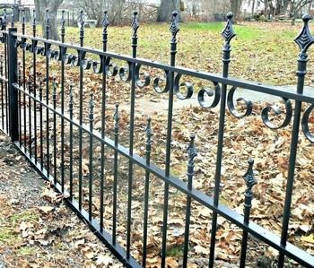 wrought iron rod iron fence